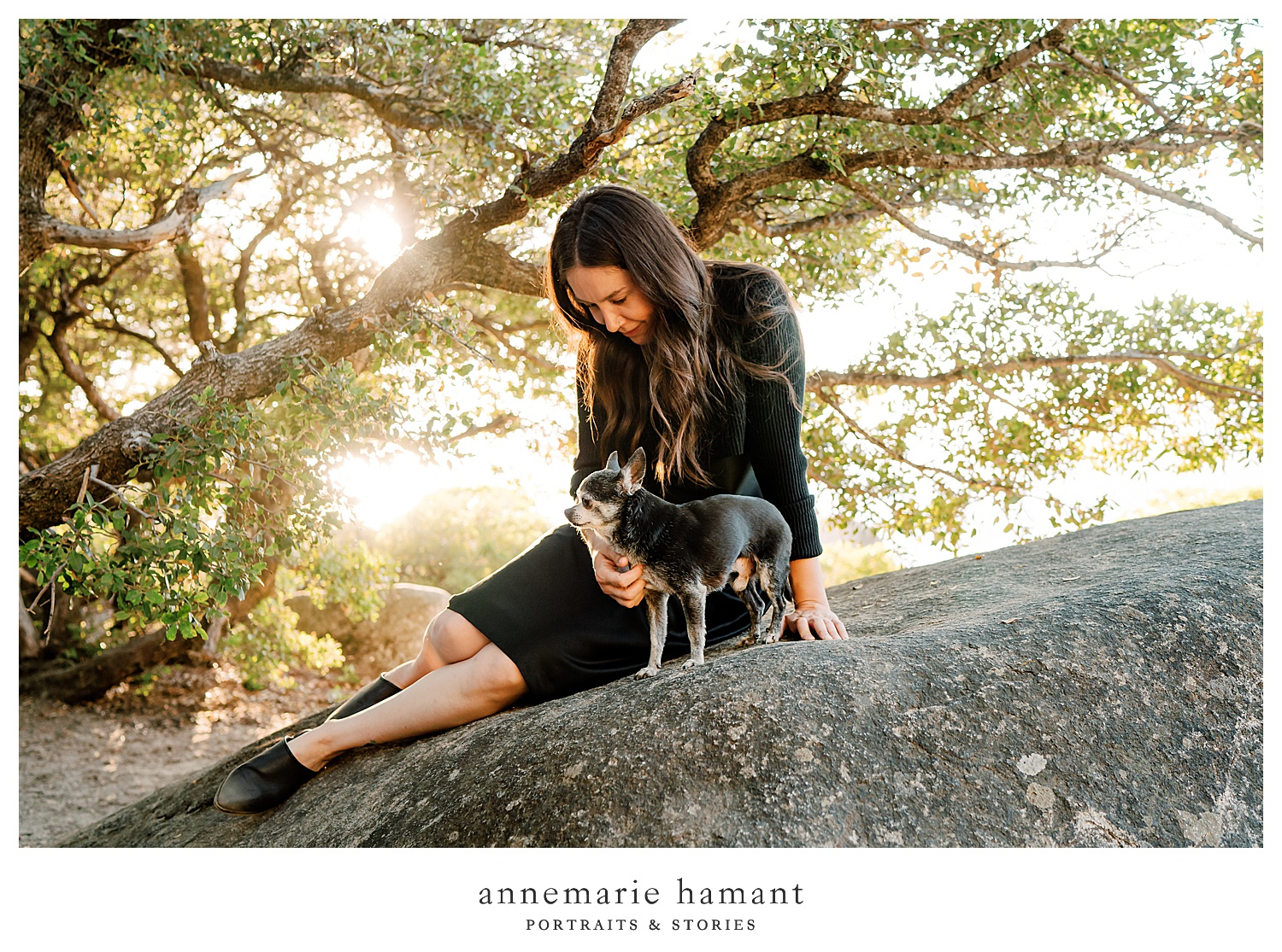 Sunset family photography at Sand Harbor, Lake Tahoe. AnneMarie Hamant is an award-winning lifestyle photographer who travels to capture her client's family connections and stories.