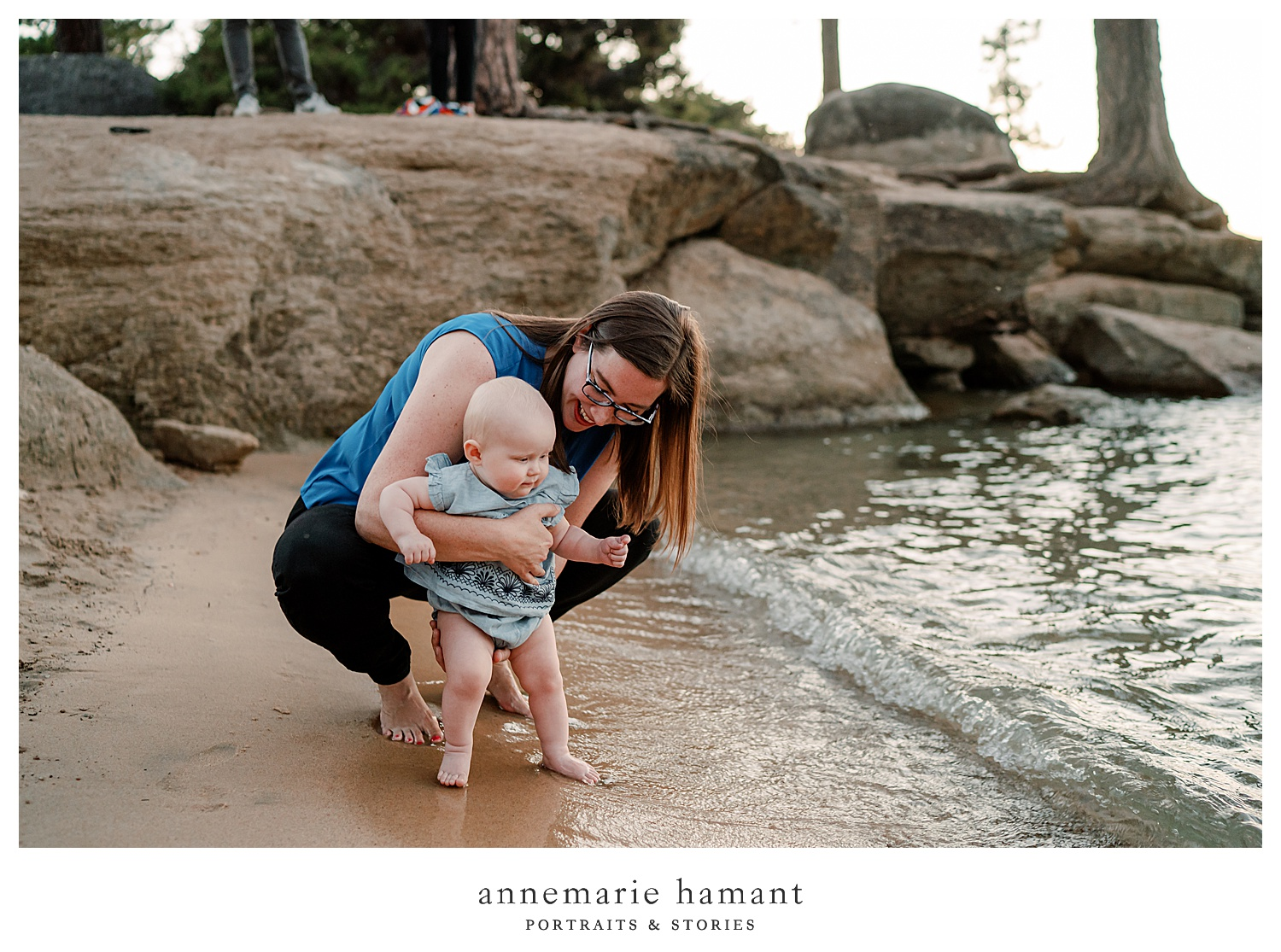 AnneMarie Hamant captures the joy of motherhood for families on vacation in Lake Tahoe.