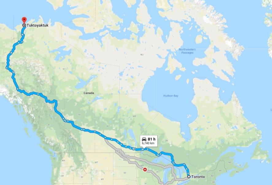 Motorcycle Trip - Toronto / Tuktoyaktuk / Kluane National Park.