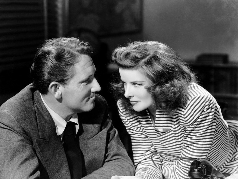 "Katharine Hepburn and Spencer Tracy in ""Woman of the Year"" (1942); MGM"