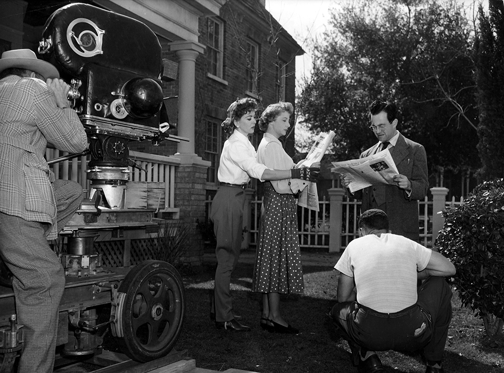 "Ida Lupino directing ""Outrage"" (1950); The Filmakers"