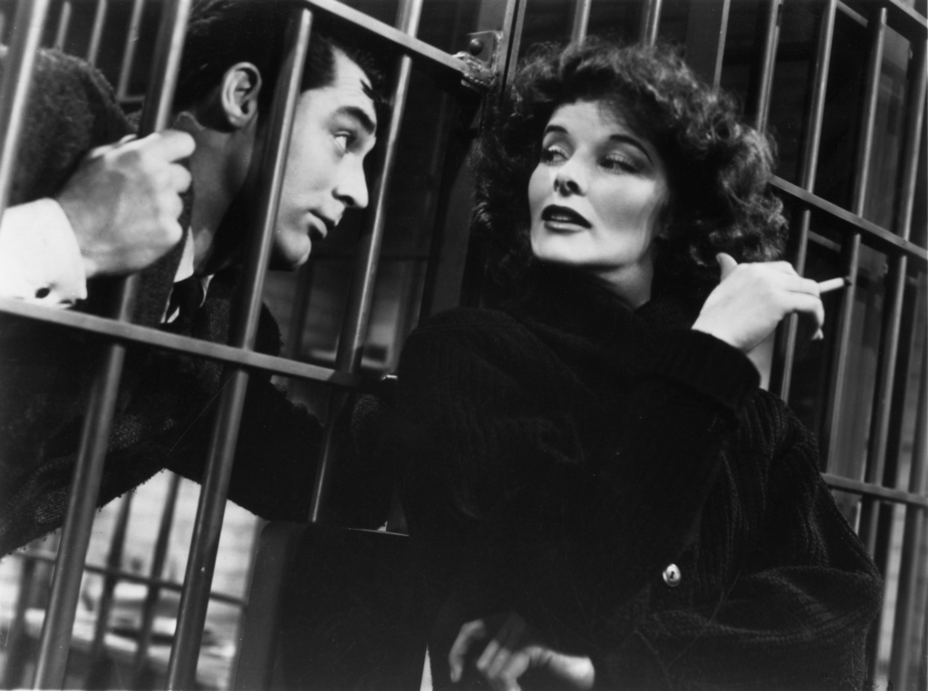 "Katharine Hepburn and Cary Grant in ""Bringing Up Baby"" (1938), directed by Howard Hawks; RKO"