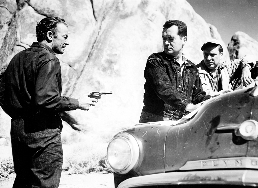 "Edmond O'Brien, Frank Lovejoy and William Talman in ""The Hitch-Hiker"" (1953), directed by Ida Lupino; The Filmakers/RKO"