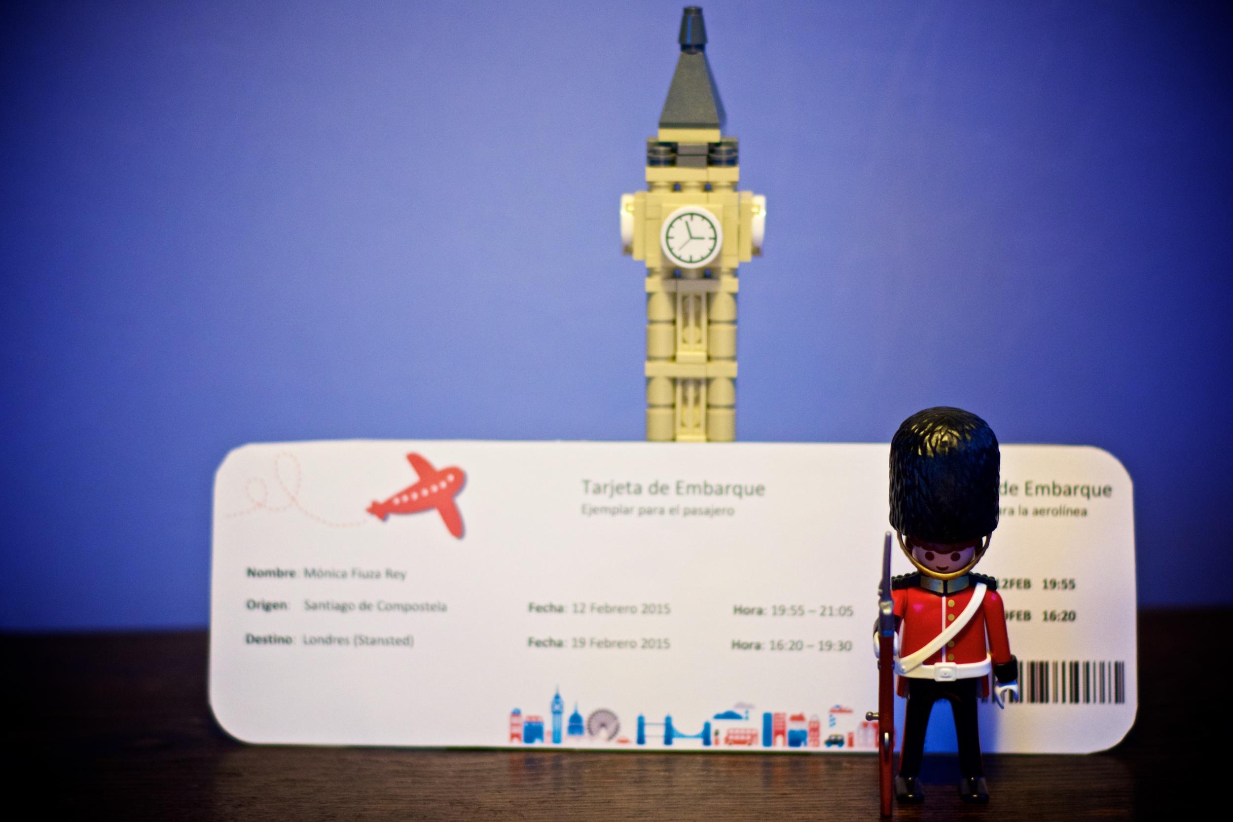 Tarjeta embarque Londres
