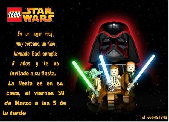 Invitacion Lego Star Wars
