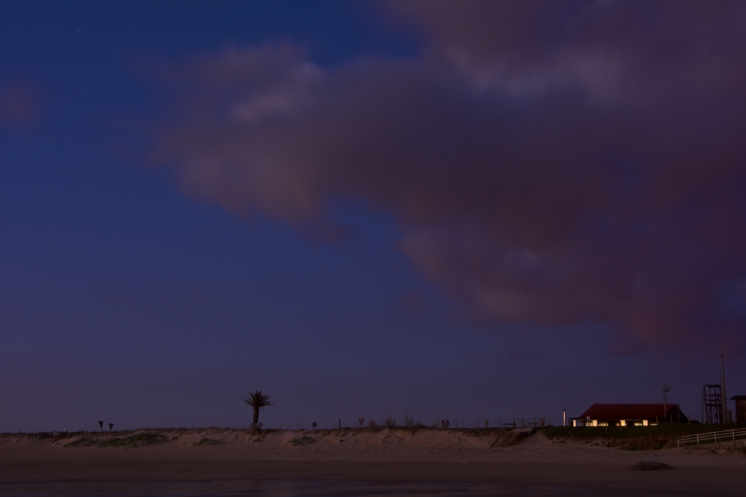 Puesta de sol en A Lanzada