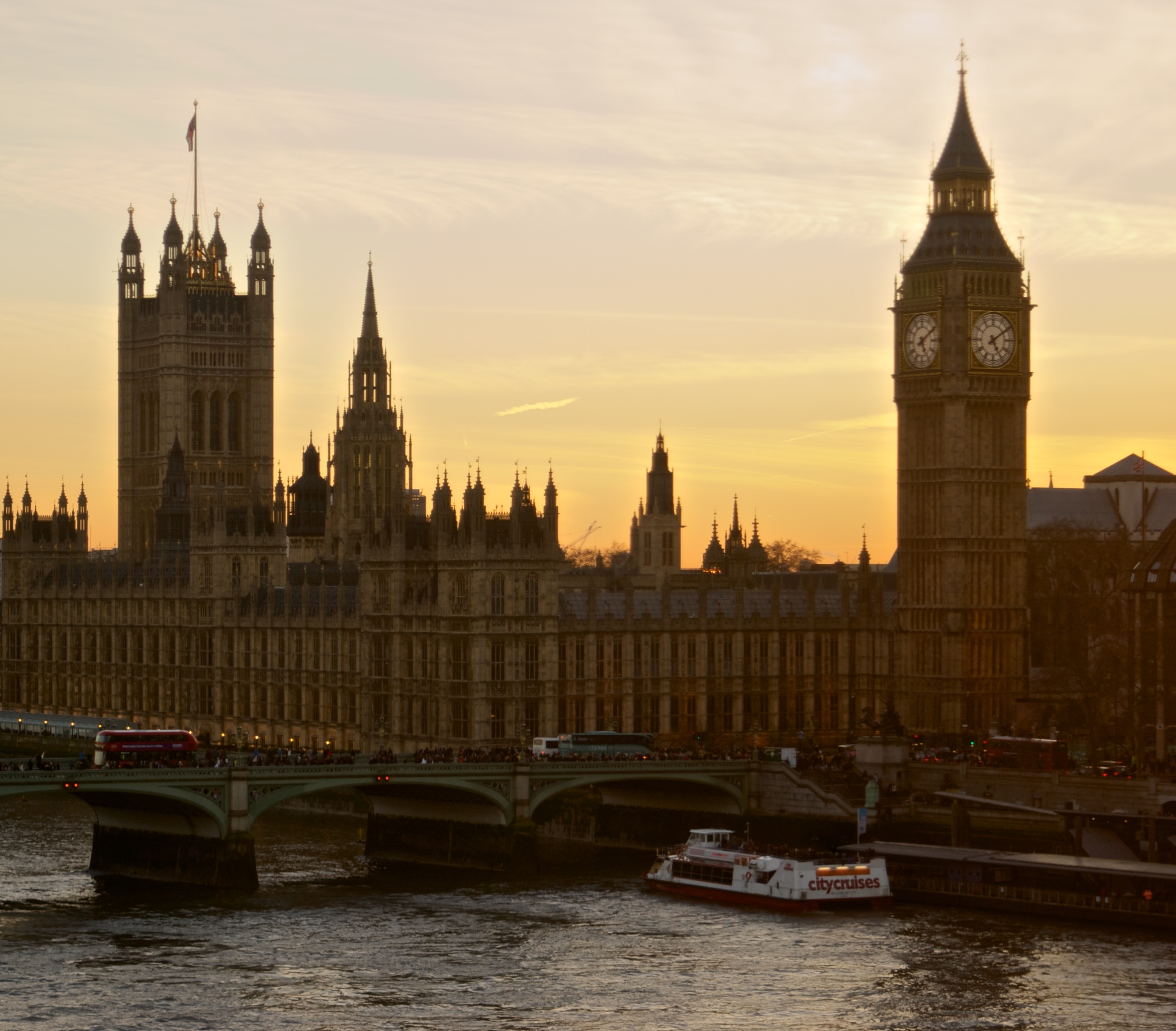 Big Ben al atardecer