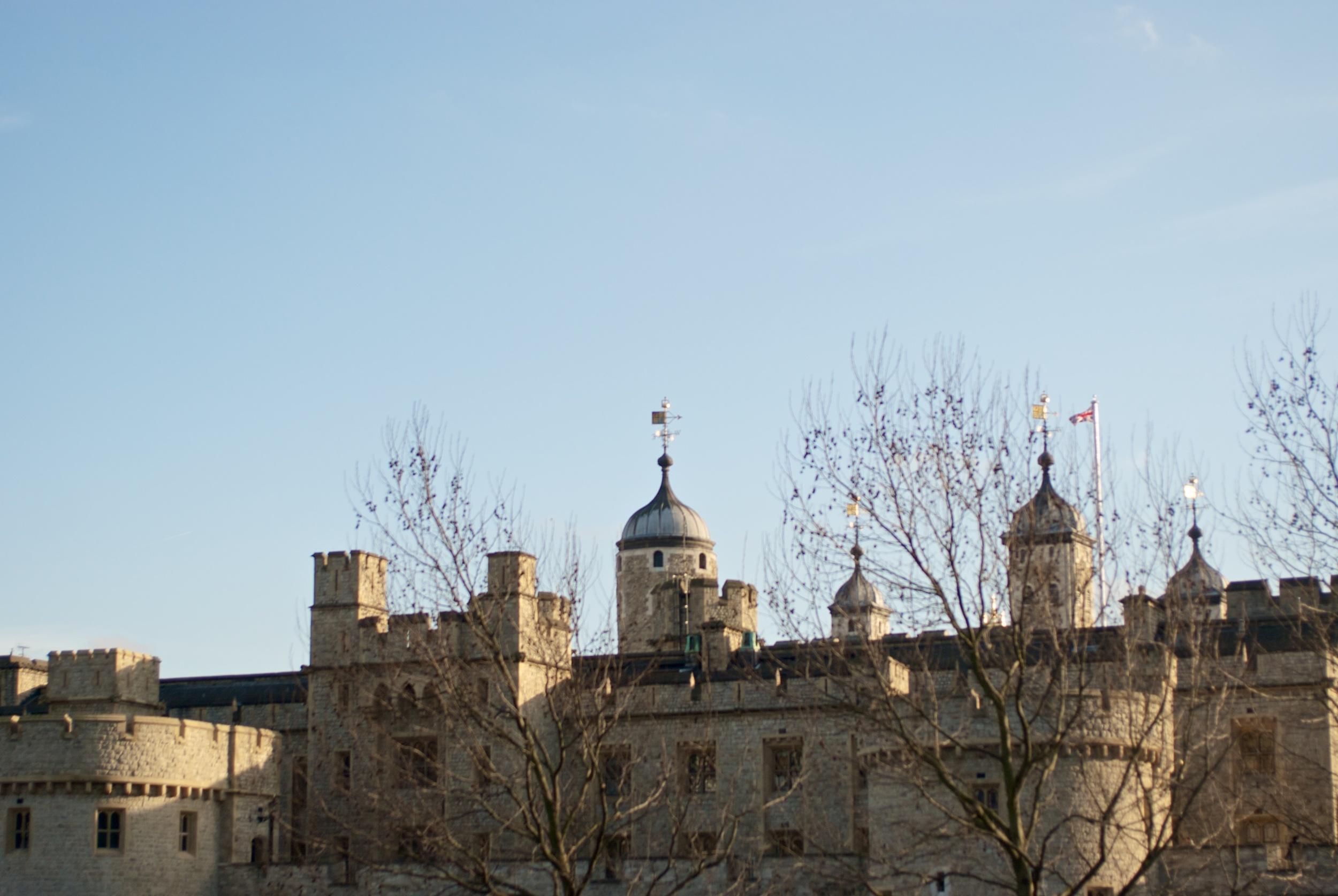 London tower. Torre de Londres
