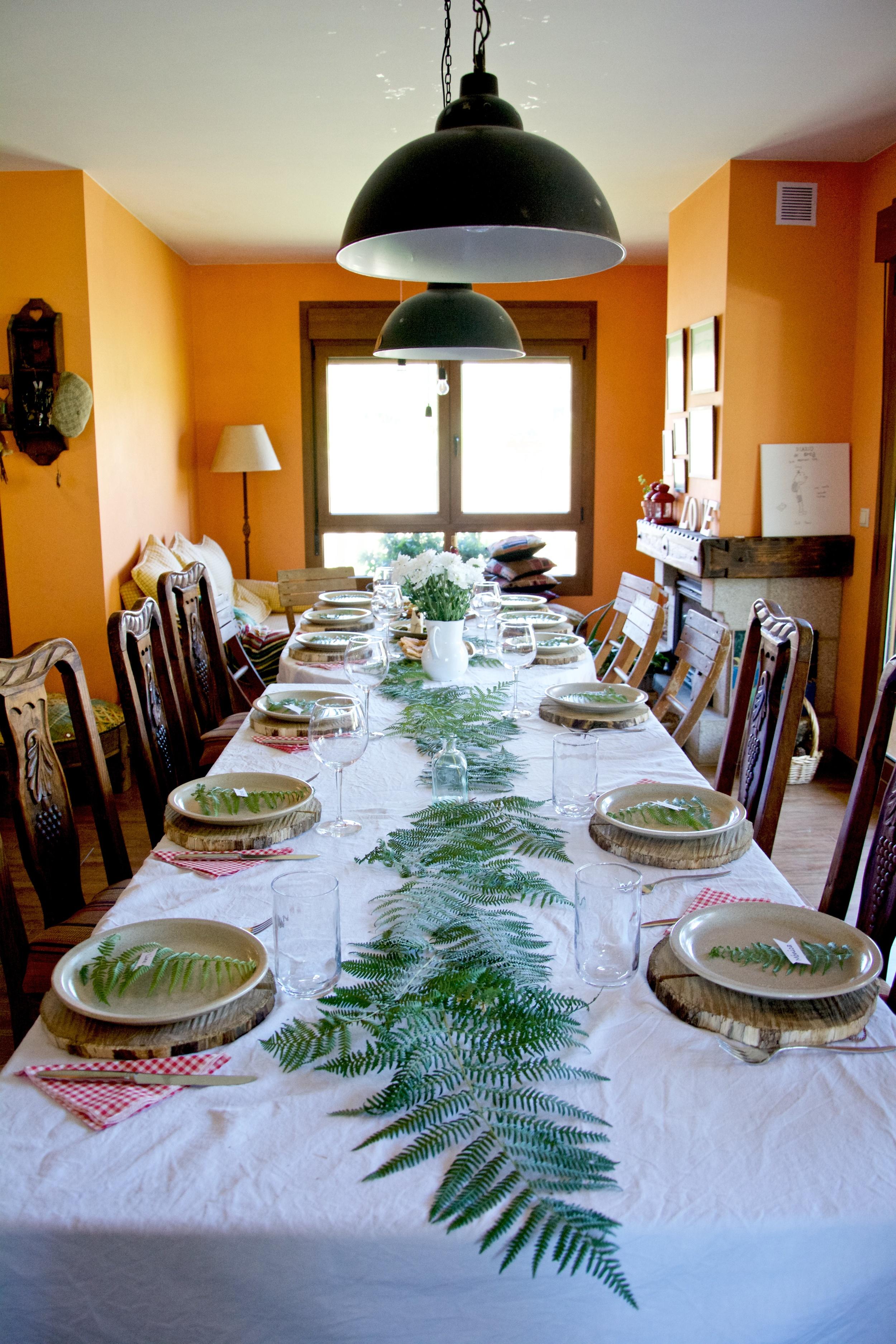 Decoracion mesa helechos