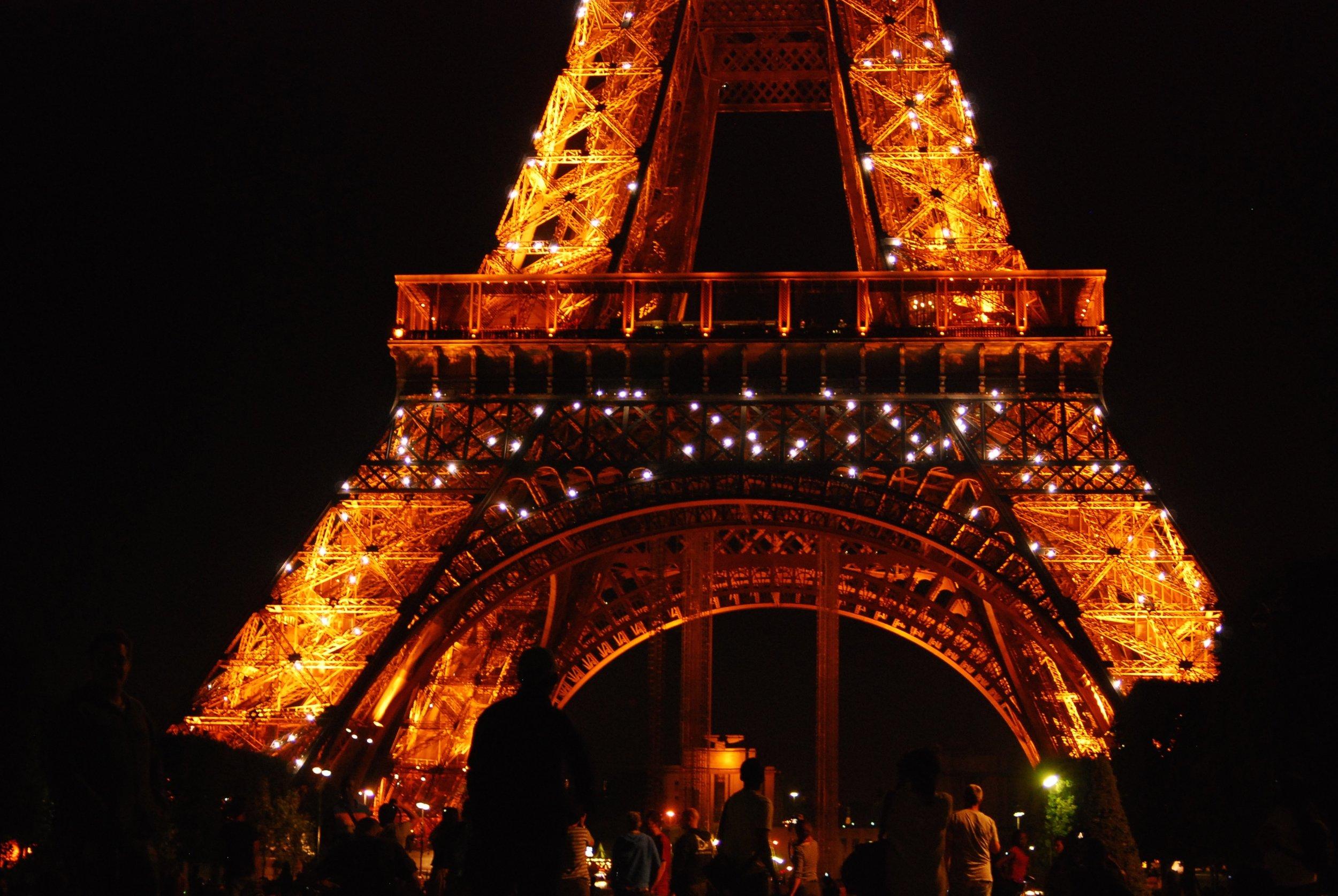 Atardecer en la Torre Eiffel