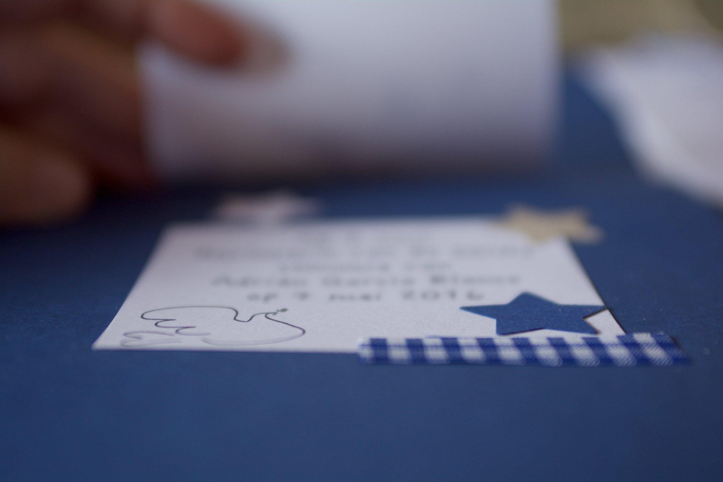 Invitación comunión personalizada hecha a mano