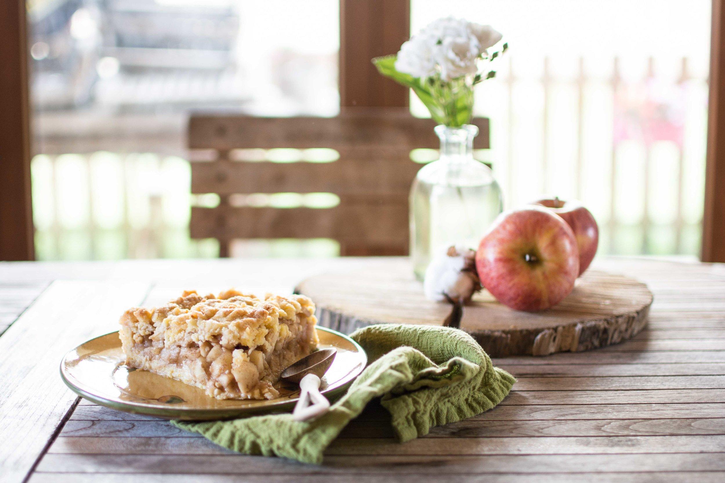 Receta Crumble de manzana