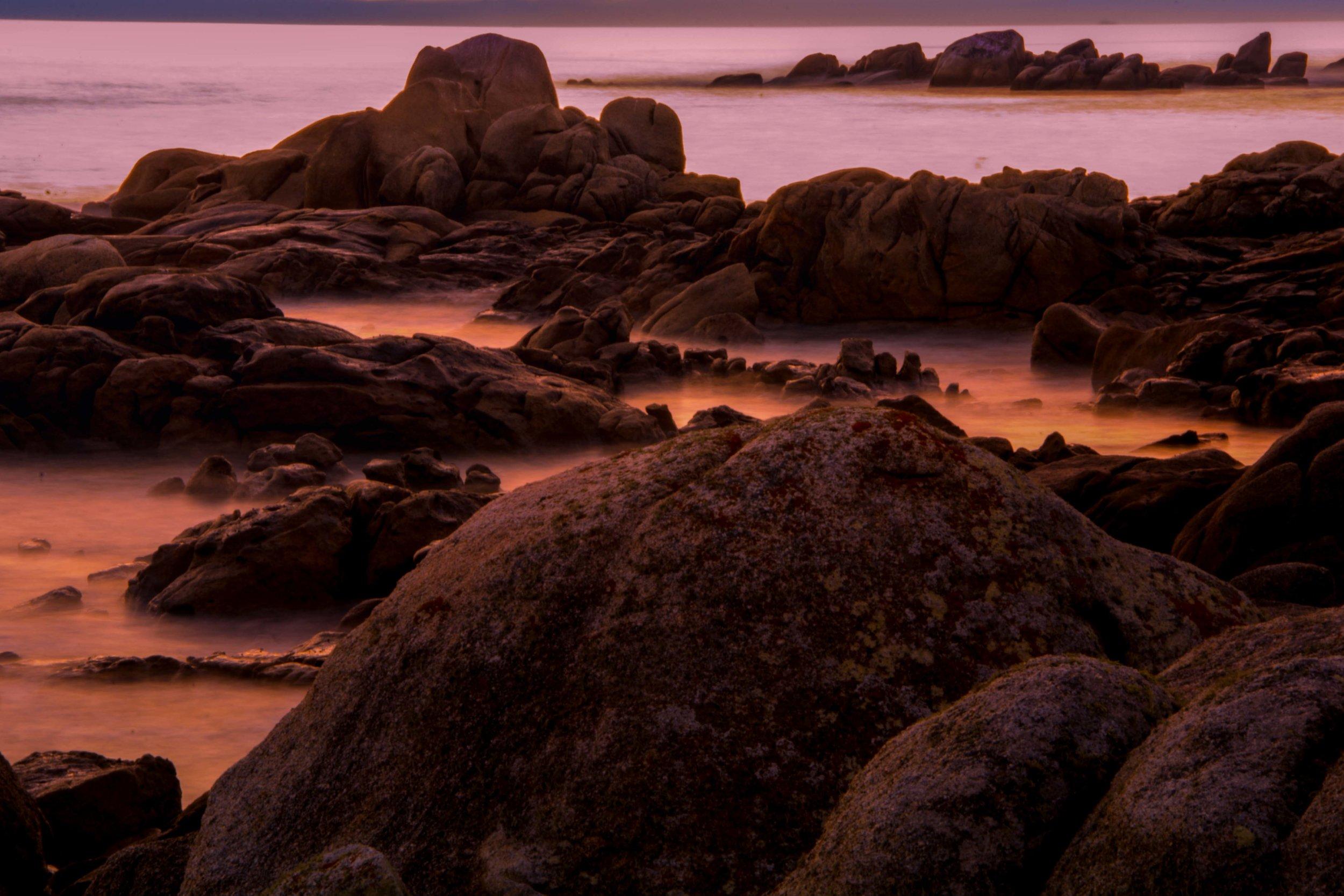 Atardecer en Pedras Negras, Galicia