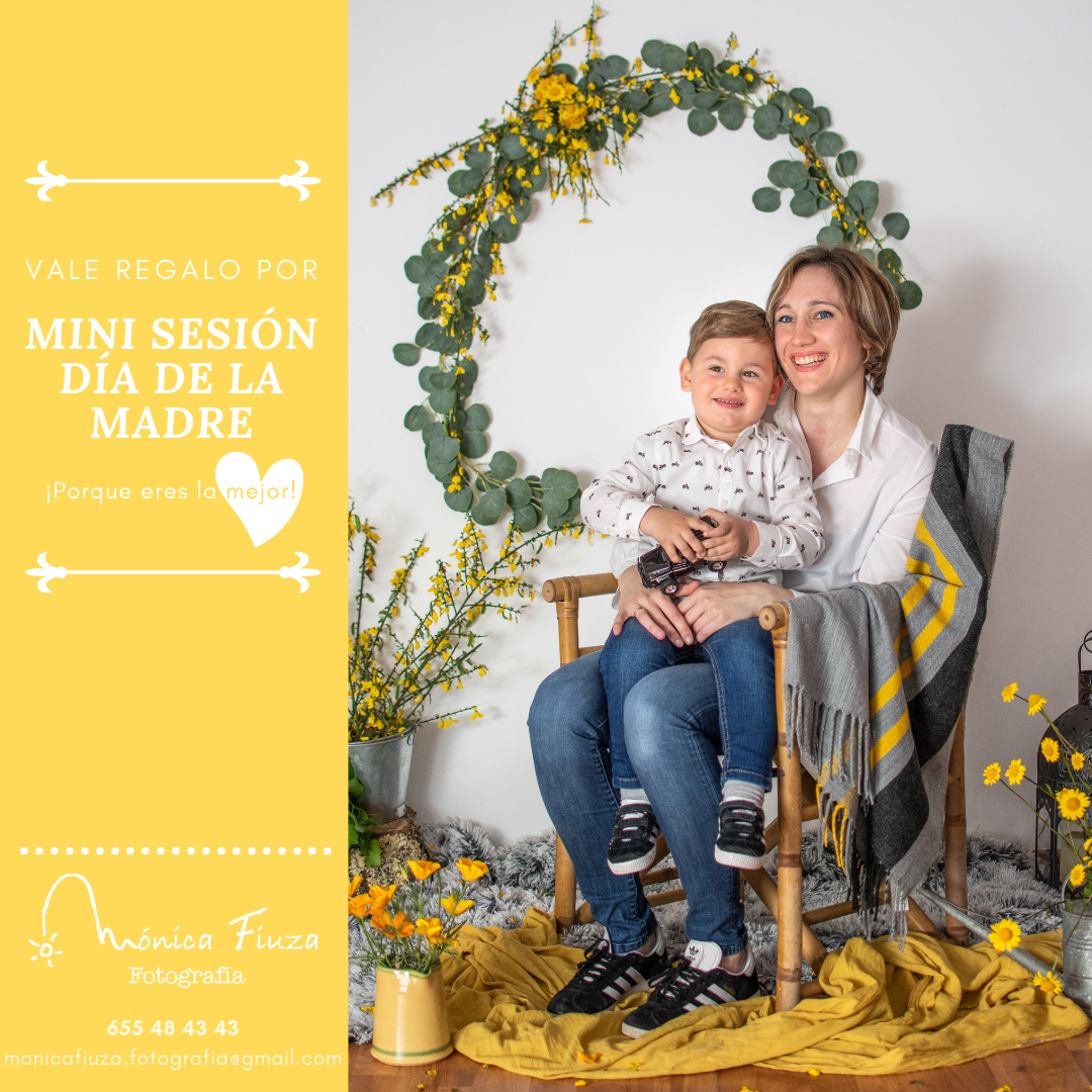 Vale regalo mini sesión dia de la madre Galicia