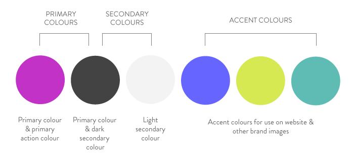 Brand colour pallet breakdown