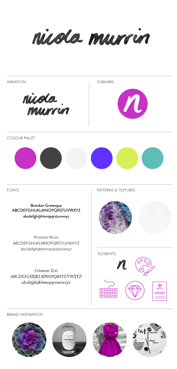 How To Create A Brand Style Board For Your Blog   Nicola Murrin