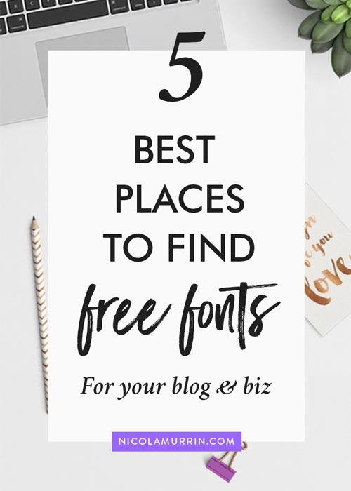 Free Fonts | Typography | Blogging | DIY Branding