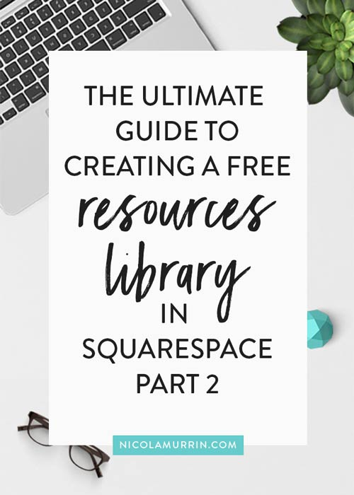 Free Resources Library | ConvertKit Tutorial | Opt-in | Squarespace Tutorial