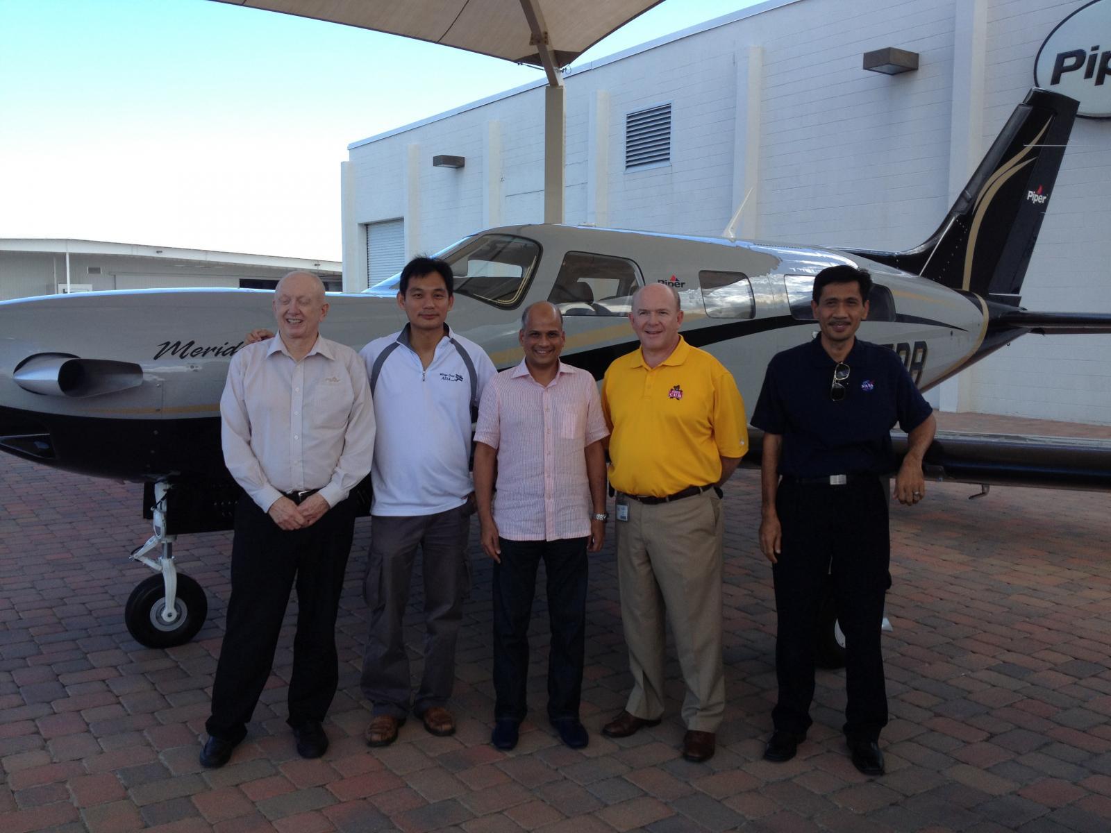 Aircraft Delivery at Piper Aircraft USA Factory