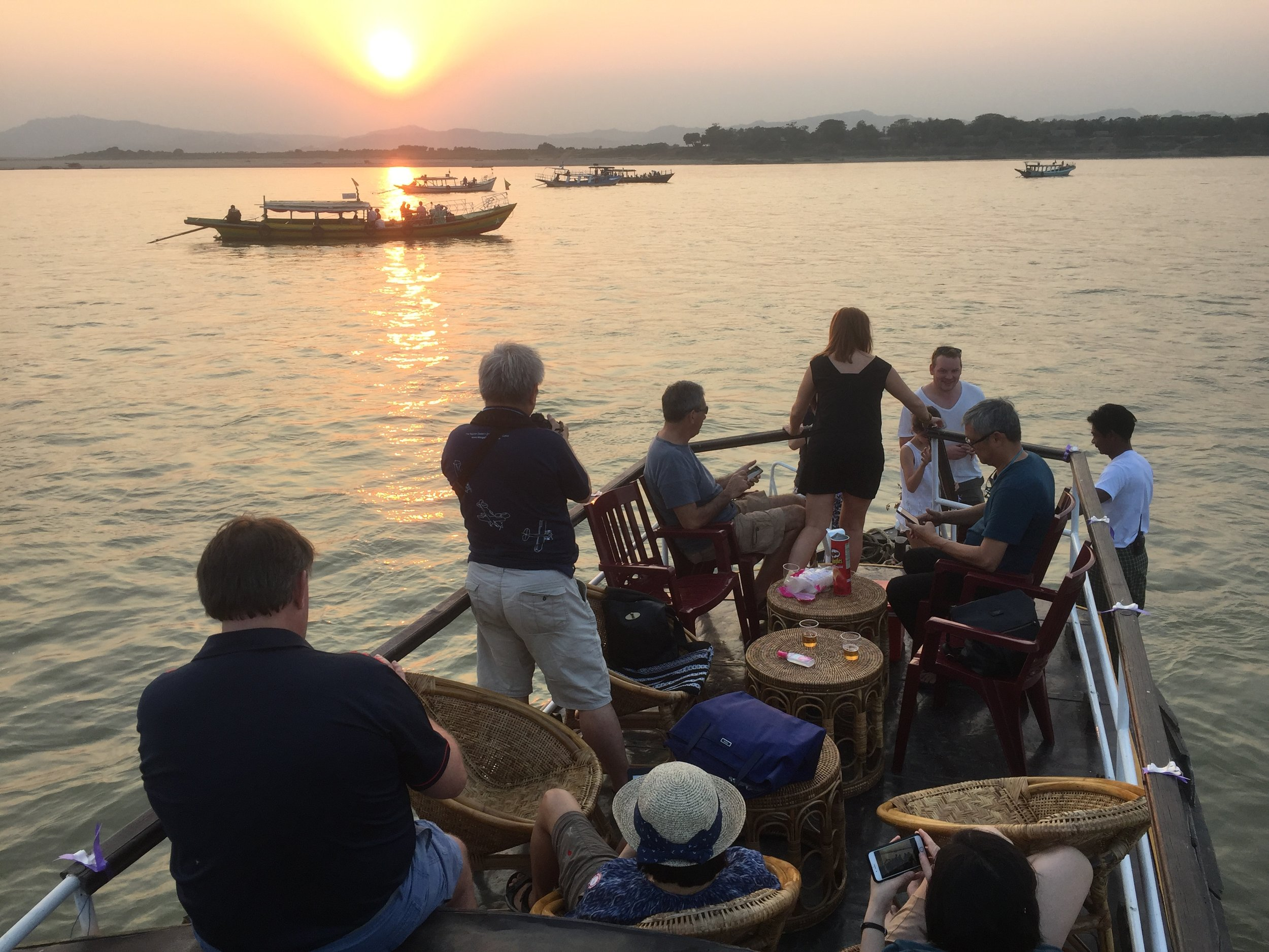 By the river in Myanmar Fly Tour 2017
