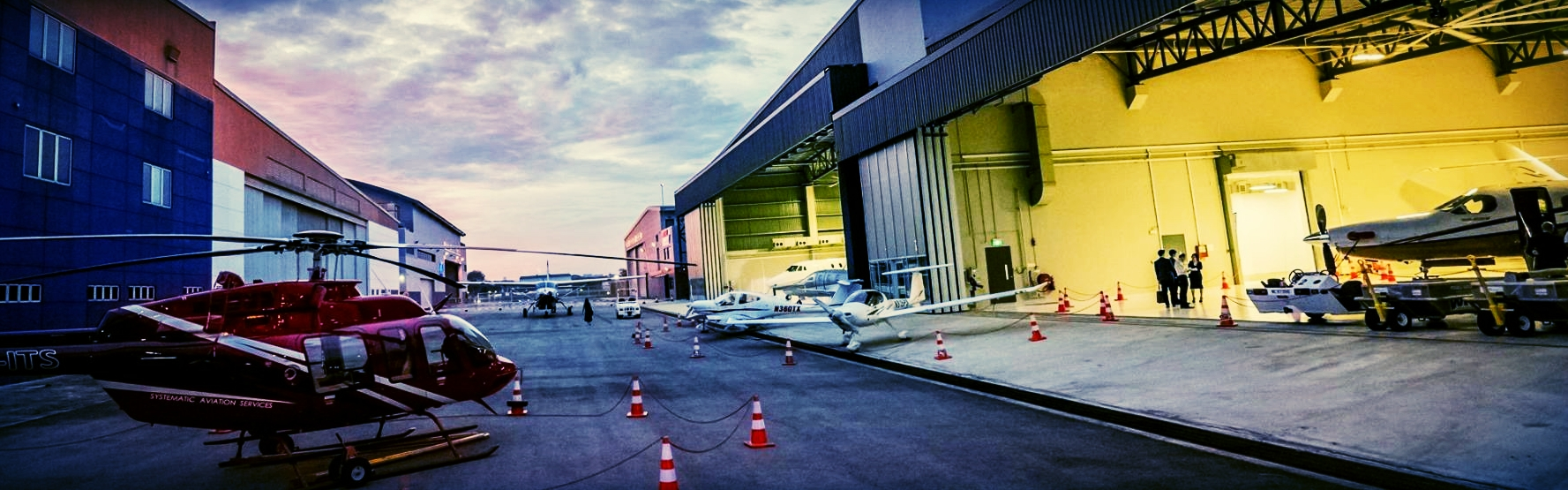 wholly owned hangar facility with runway access