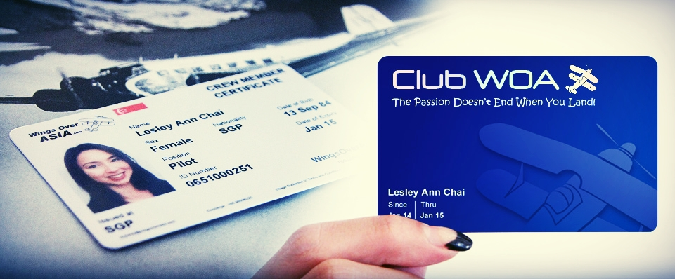 exclusive clubwoa membership and flight crew card that is re-cognised internationally