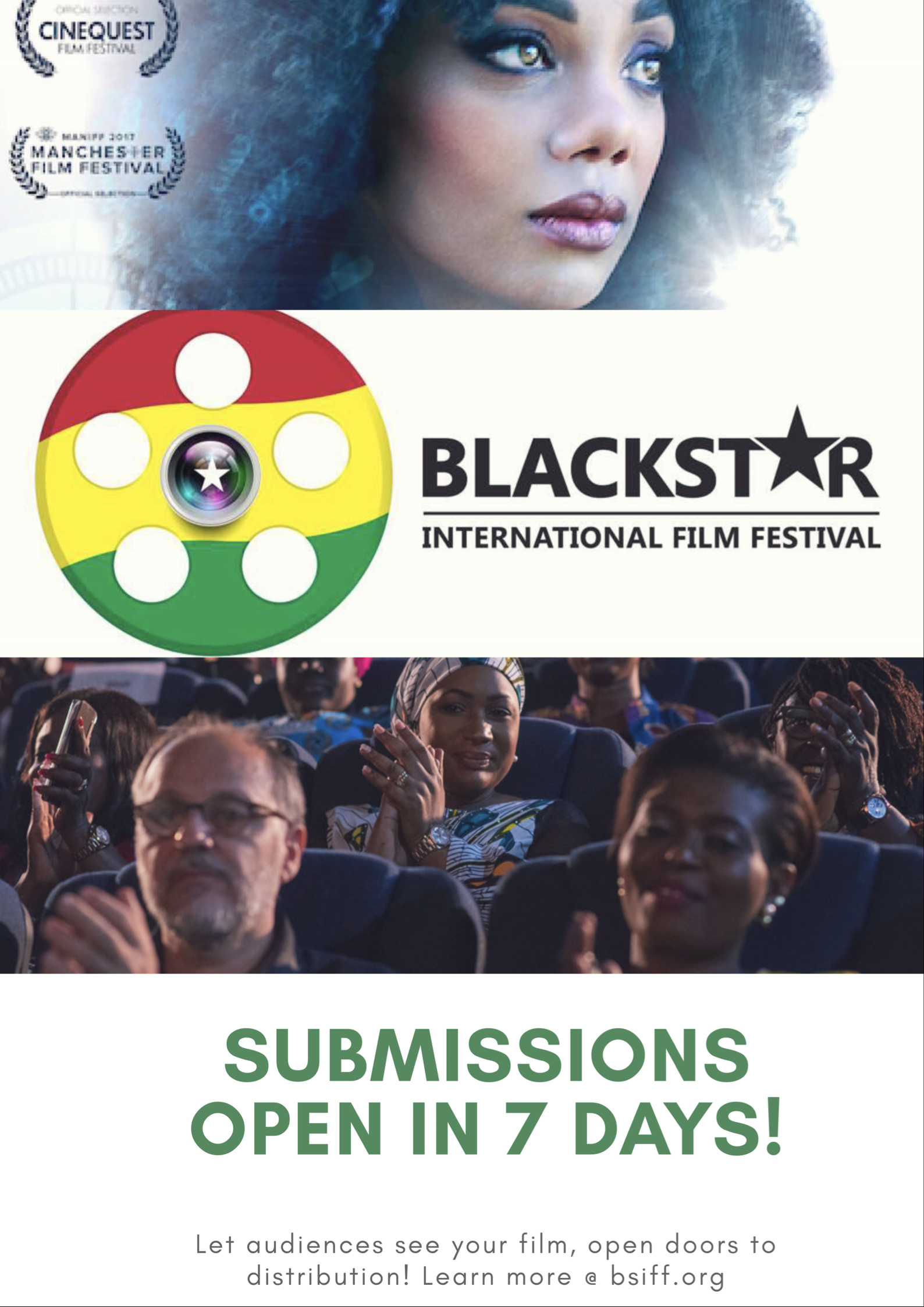 You know other filmmakers? Invite them to submit also... - Submit your film to Bsiff2018 and enter the competition to win the Yaa Asantewa-UNDP award. Show your film to an engaged audience, get the interest of distributors and book your ticket to a beautiful country! Learn more at Bsiff.org. We look forward to seeing your work!Use any of the links to submit above...
