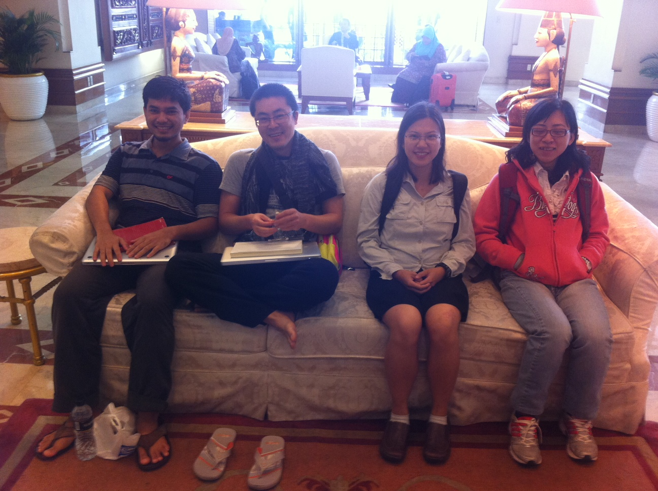 Group - waiting in the lobby