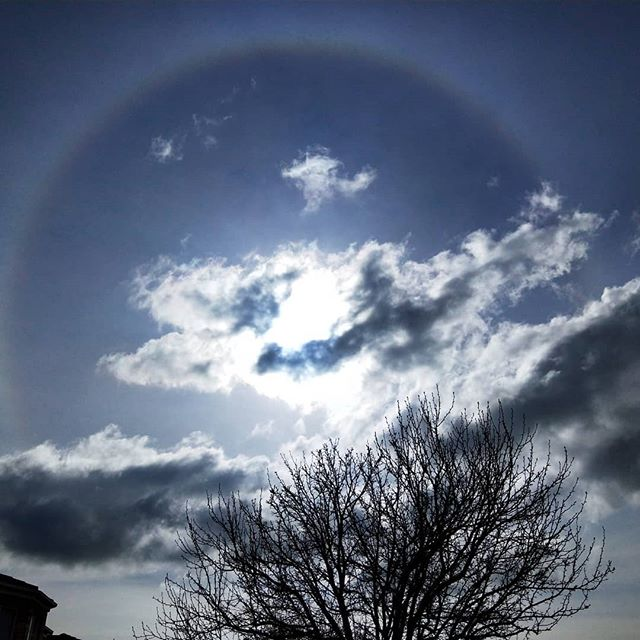 Lovely #sunhalo on one of my walks this #weekend  Almost had a #rainbow effect to it