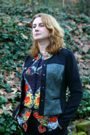The cabi fall 2015 Media JACKET, SHOWN WITH THE aMOUR bLOUSE. pHOTOGRAPH BY bILL rUHSAM.