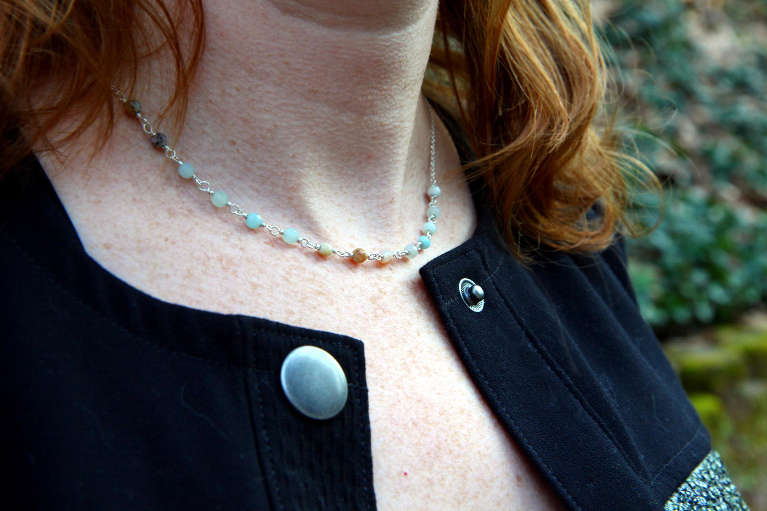 Beaded Amazonite Necklace by  Solid Treasures