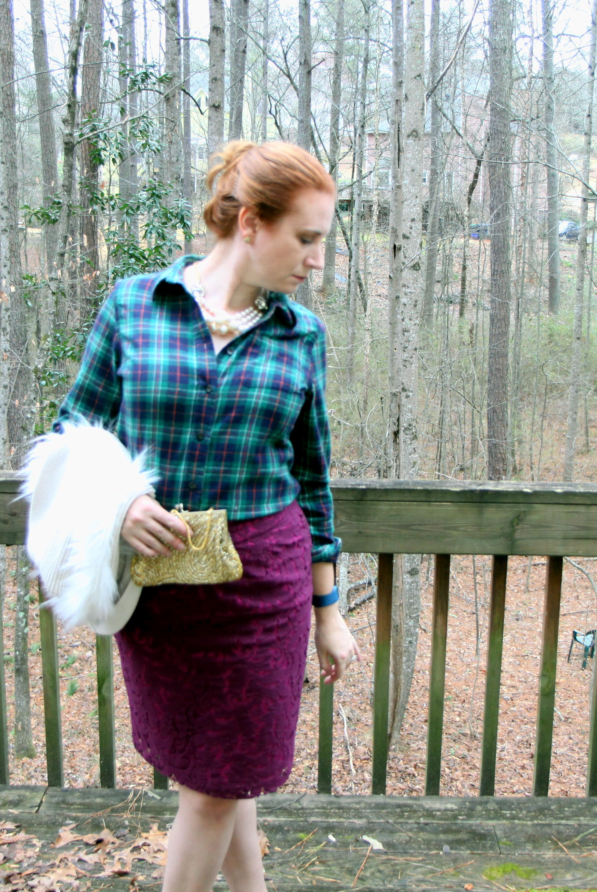 2.  Plaid POW: Sparkling & Flannel Sunday Best