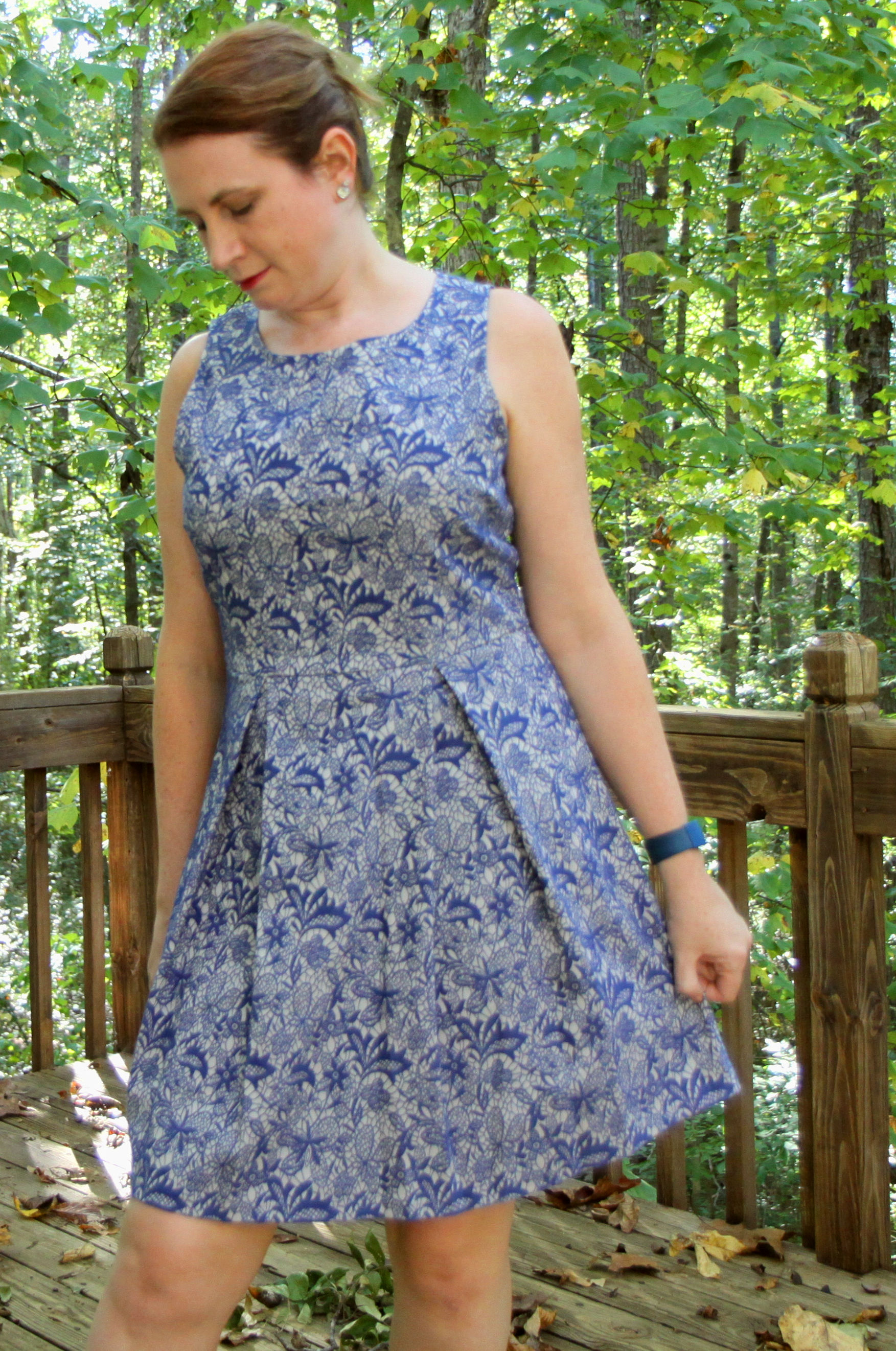 I have only worn this dress for this photo shoot! Jace Embroidered Lace Dress by 41Hawthorn and from  Stitch Fix .