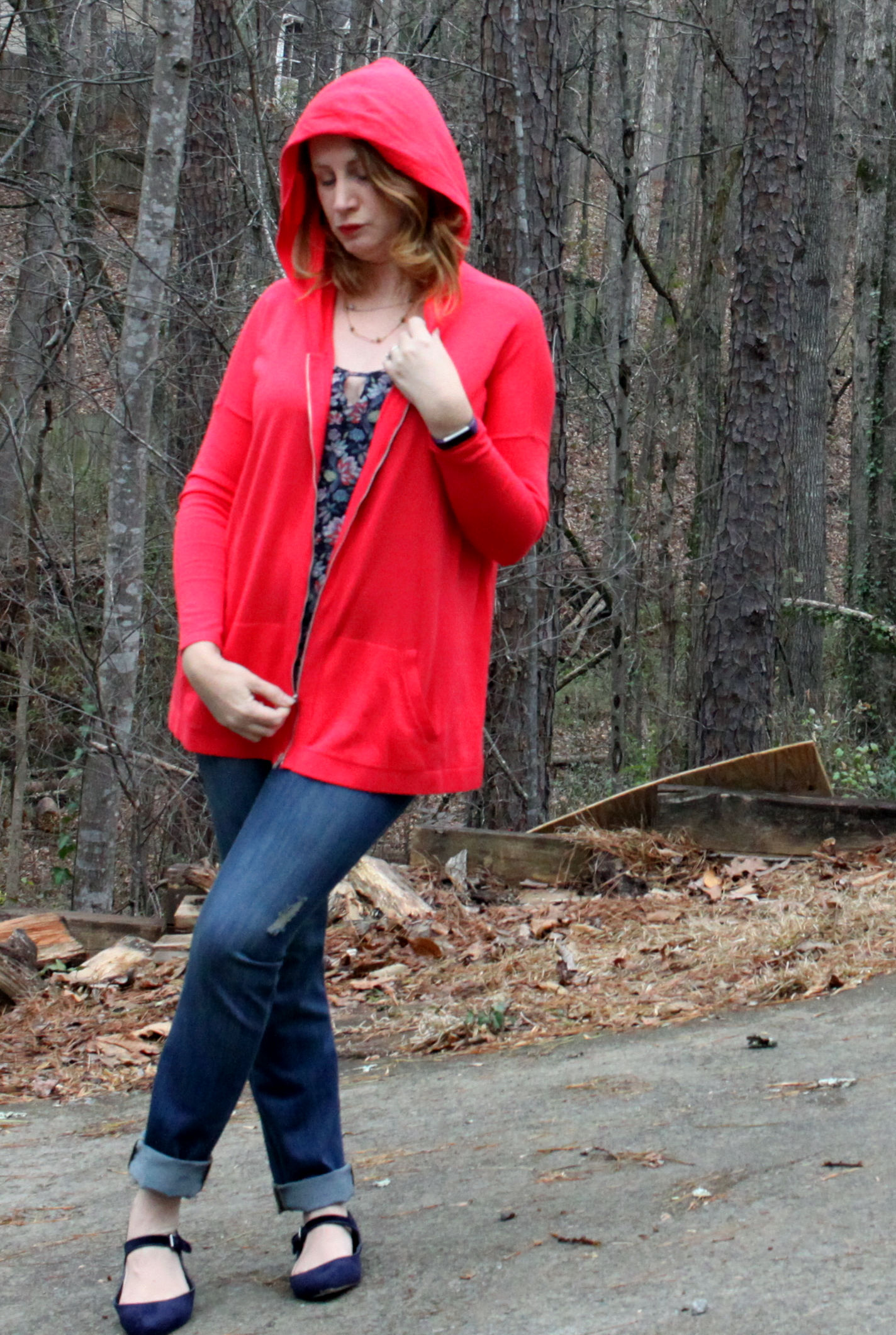 Isn't the cabi Spring 2017 collection great?  Beachcomber Hoodie ,  Flirt Cami ,  Mojave Slim Boyfriend  jeans, and  Sea Knot Necklace  from cabi. Canvas by Lands' End  Pointed Toe Mary Jane  shoes.