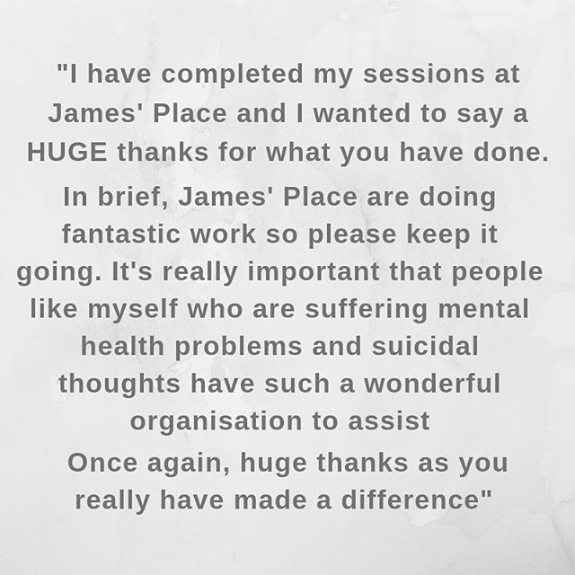 We're bringing Mental Health Awareness Week to a close with a quote from one of our visitors. The qualitative data is important but it doesn't compare to the personal experiences of the people that we help. It was a pleasure to help this man and we hope that we can help many more 💙  #jamesplaceuk #mentalhealthawarenessweek #liverpool #time2talk