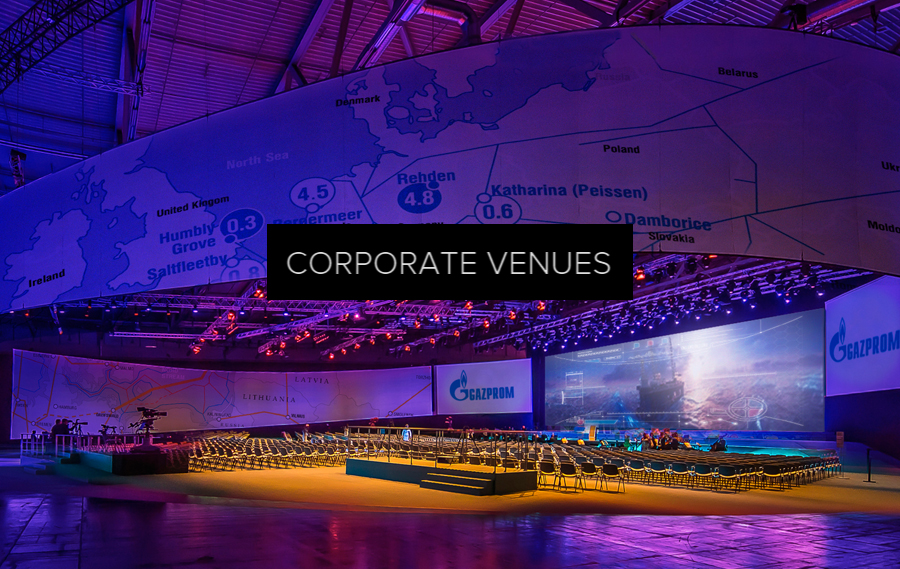 Corporate venues - An unprecedented presentation solution for enterprises - full multimedia stages and environments that ensure next level of engagement.