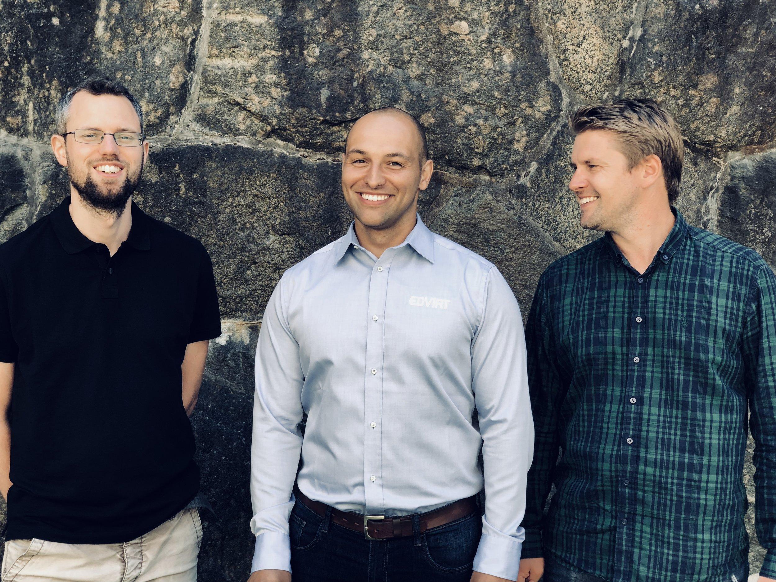 Från vänster: Petter Börjesson - Technical Manager, Tomislav Rogan - CEO,Eric Odkrans - Head of Business Development