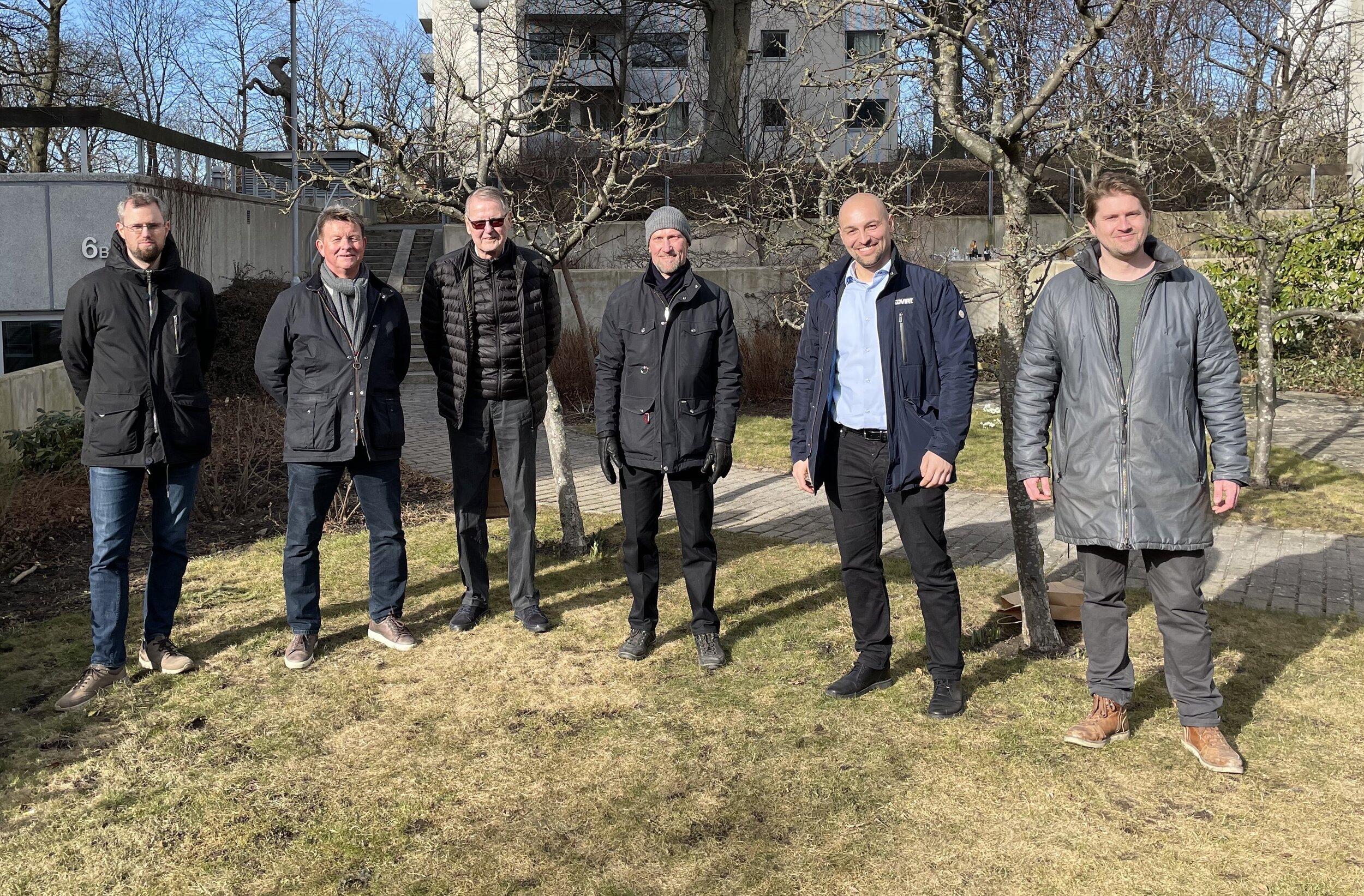 Från vänster:  Petter Börjsson, Lars-Göran Dahlqvist, Jan E. Liljeqvist, Tommy Ellison, Tomislav Rogan och Eric Odkrans.