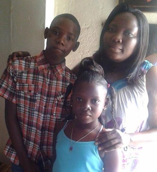 Richlene with her children on 1/1/2017