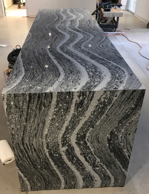 water fall leg granite counter
