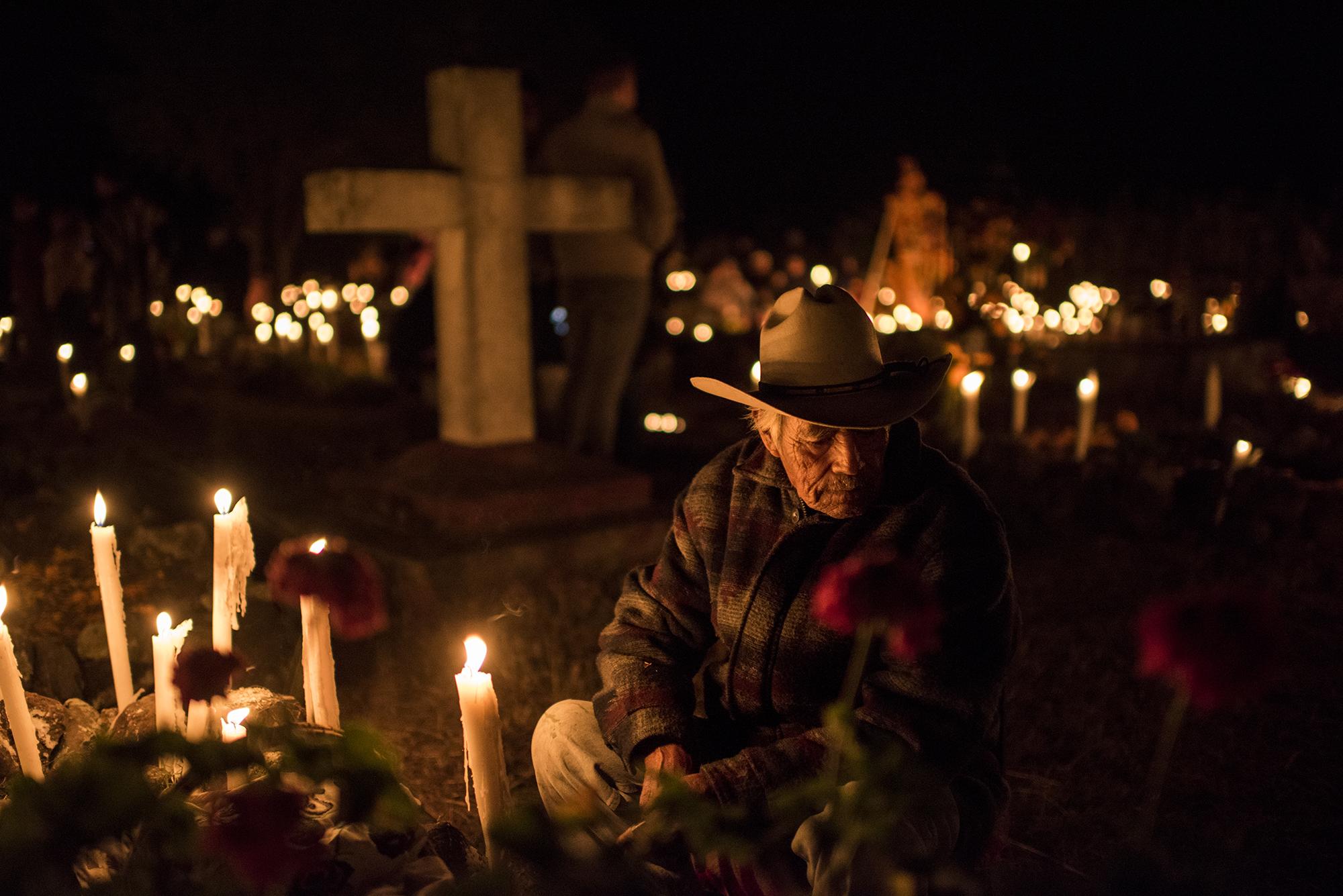 Noche de los Muertos. Lake Patzcuaro, México.