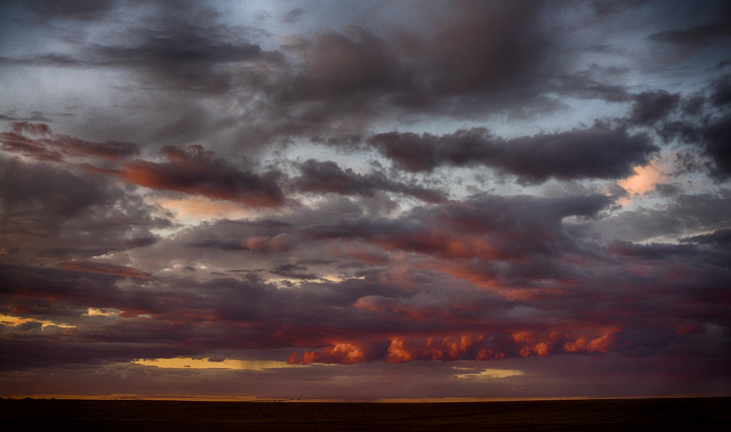 Sunset. Clay County, NE.