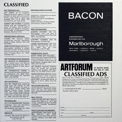 Classified, Artforum