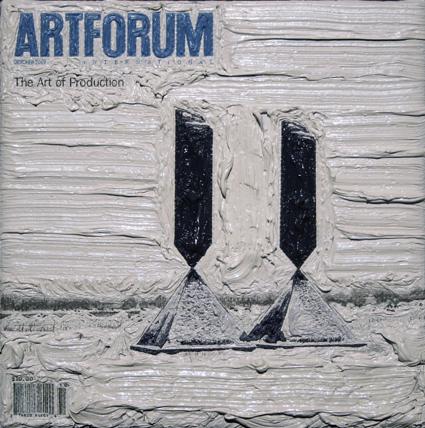Artforum October 2007, 5ins x 5ins, Oil on linen, 2008.