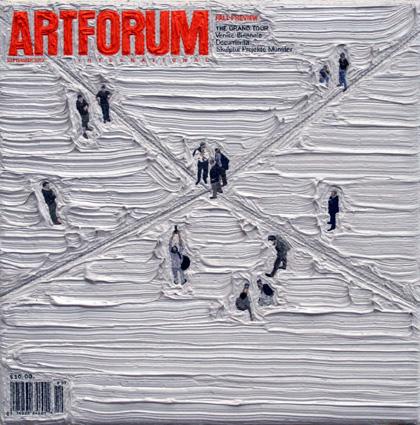 Artforum September 2007, 5ins x 5ins, Oil on canvas, 2008.