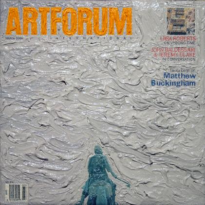 Artforum June 2004, 5ins x 5ins, Oil on linen, 2008.