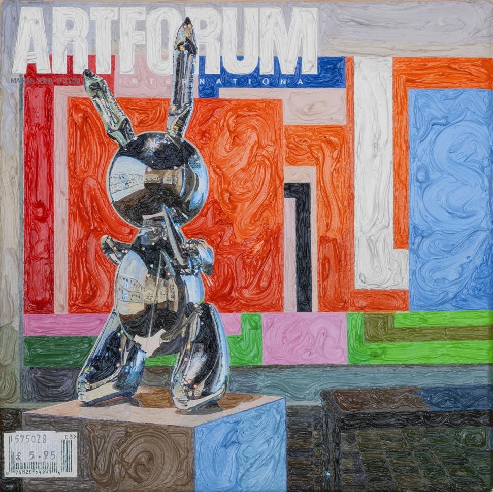 Artforum March 2003, 5ins x 5ins, Oil on linen, 2008.