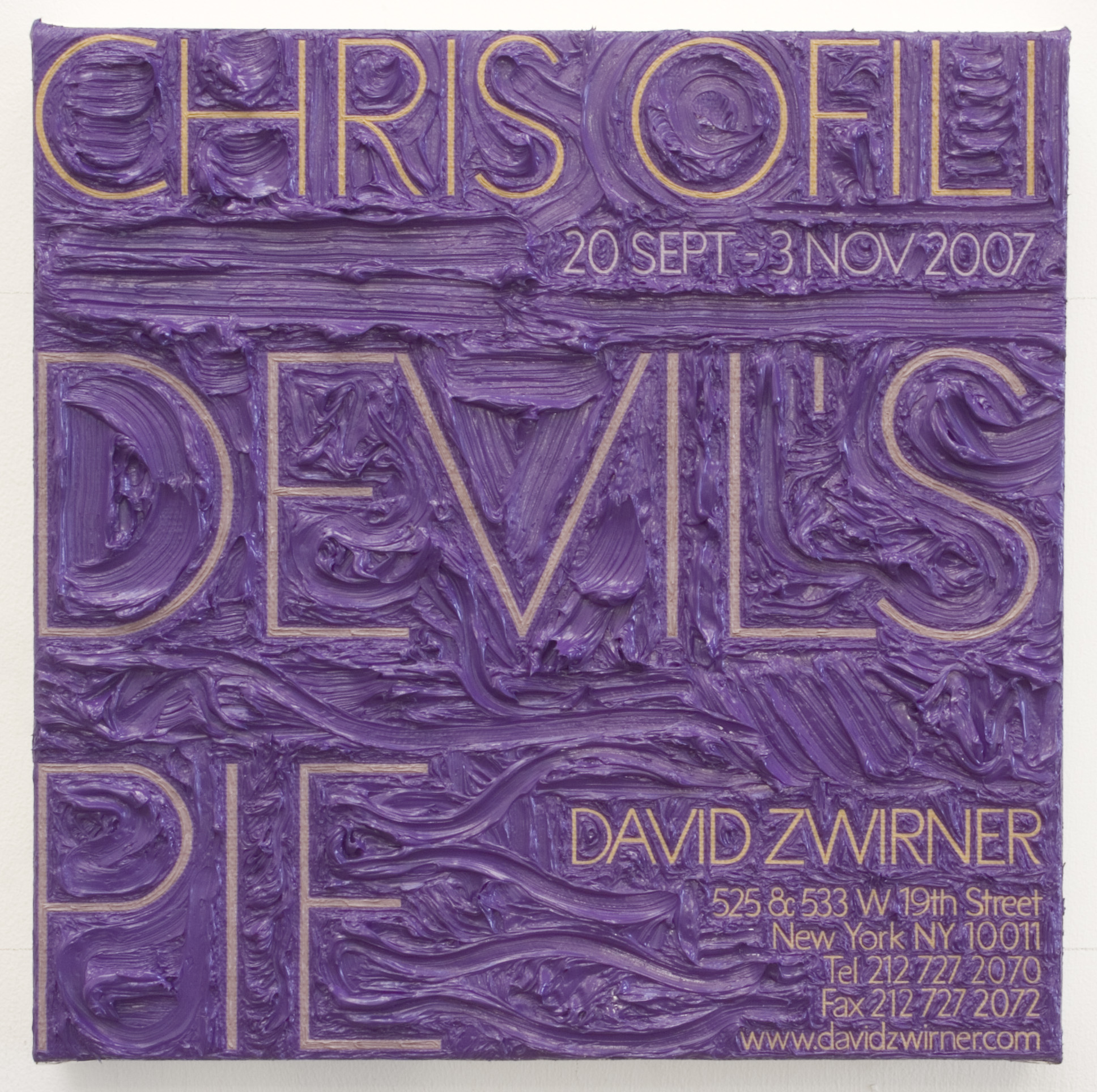 Chris Ofili at David Zwirner