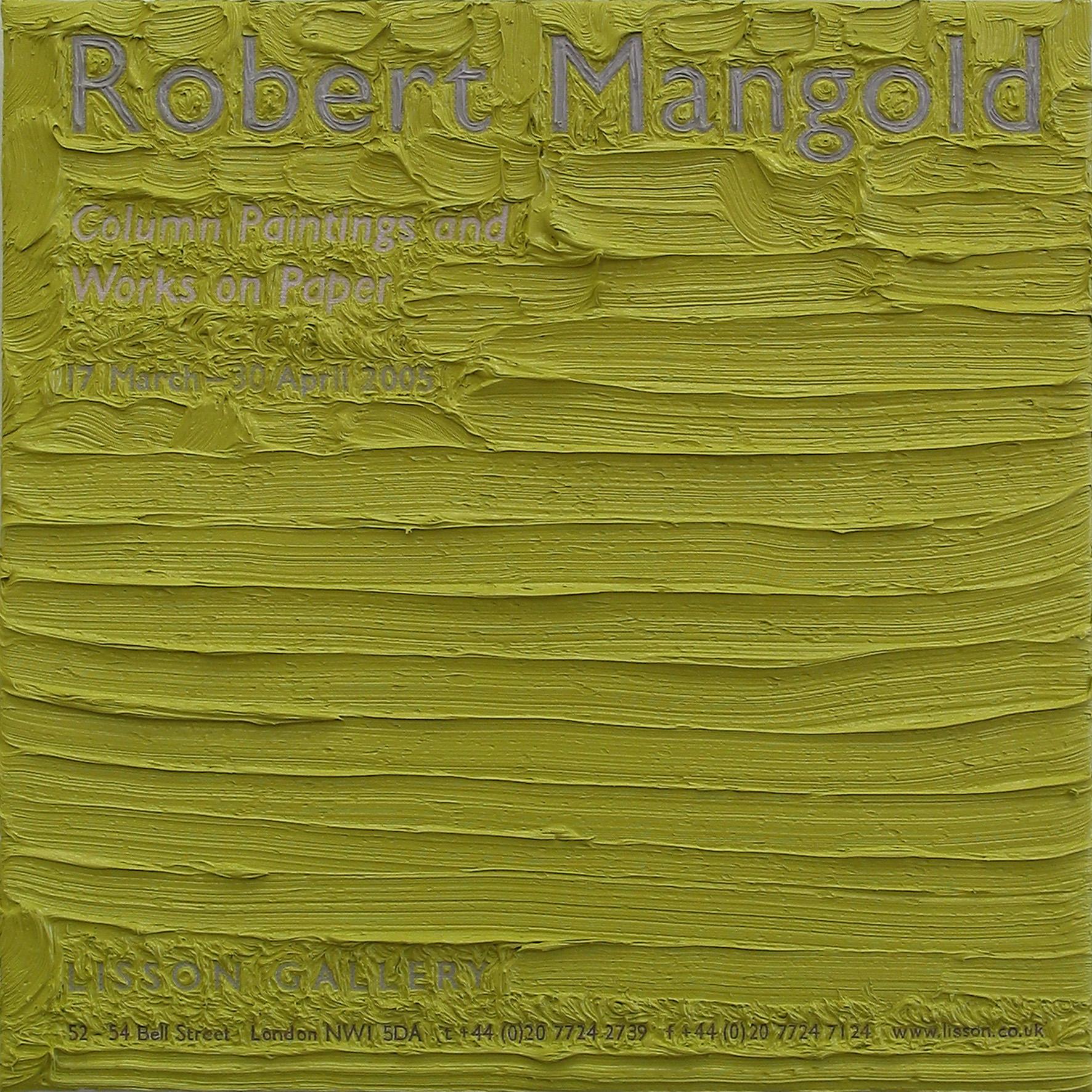 Robert Mangold at Lisson