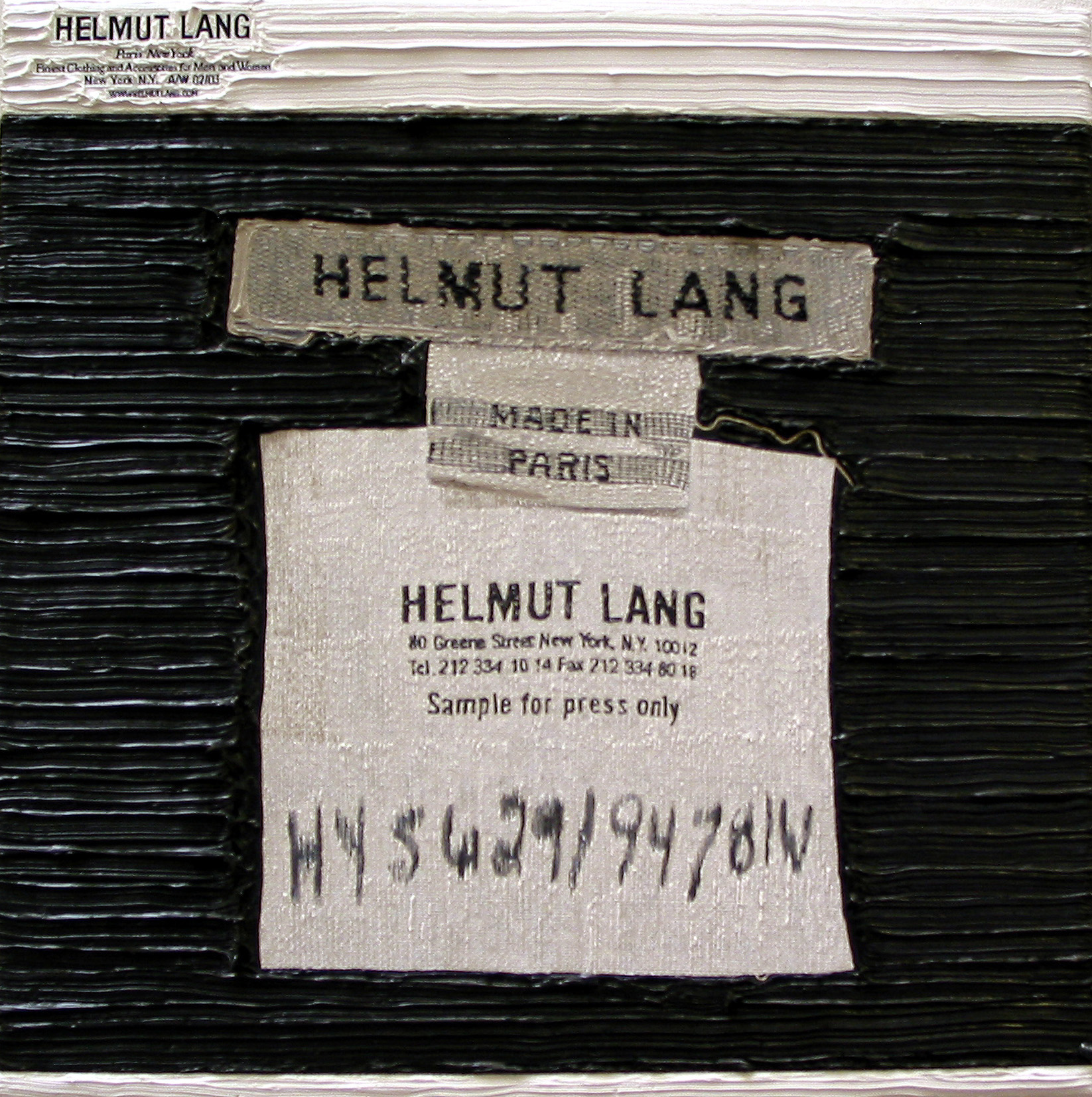 Helmut Lang, Artforum (Label)
